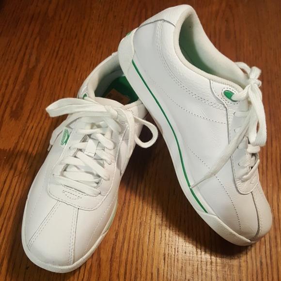 Slazenger White Leather Sneakers